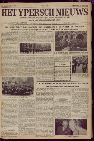 Het Ypersch nieuws (1929-1971) 1962-07-14