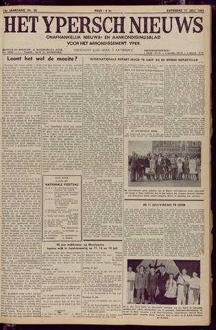 Het Ypersch nieuws (1929-1971) 1965-07-17