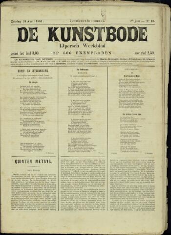 De Kunstbode (1880 - 1883) 1881-04-24