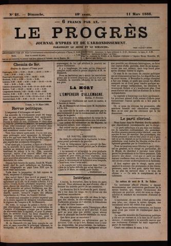 Le Progrès (1841-1914) 1888-03-11