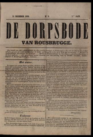 De Dorpsbode van Rousbrugge (1856-1857 en 1860-1862) 1856-12-21
