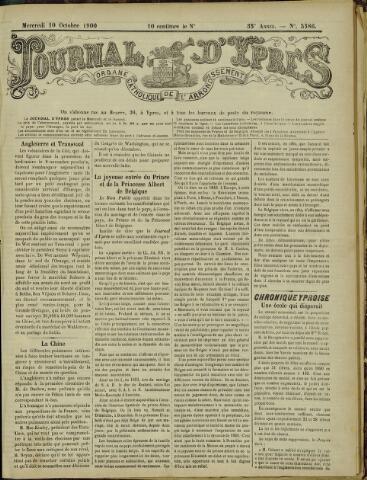 Journal d'Ypres (1874 - 1913) 1900-10-10