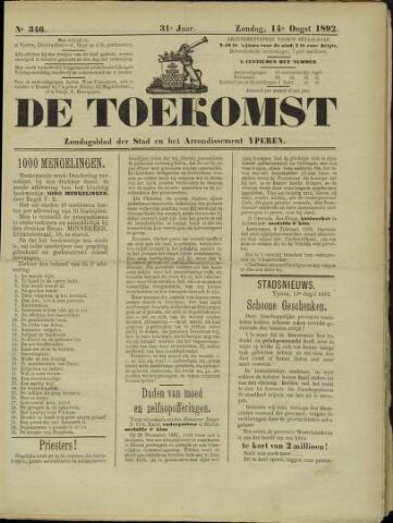 De Toekomst (1862 - 1894) 1892-08-14
