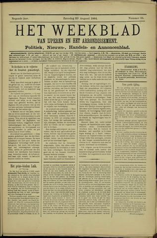 Het weekblad van Ijperen (1886 - 1906) 1894-08-25