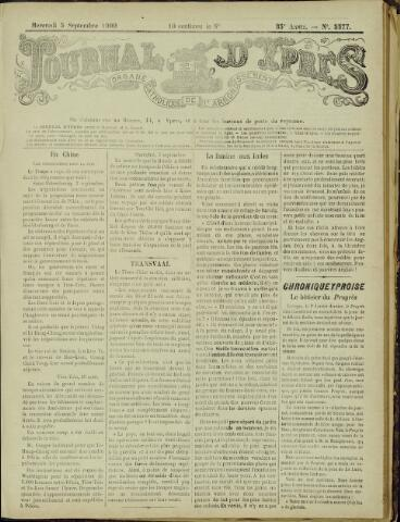 Journal d'Ypres (1874 - 1913) 1900-09-05
