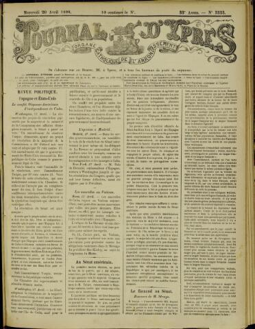 Journal d'Ypres (1874 - 1913) 1898-04-20