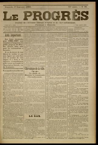 Le Progrès (1841-1914) 1905-09-17