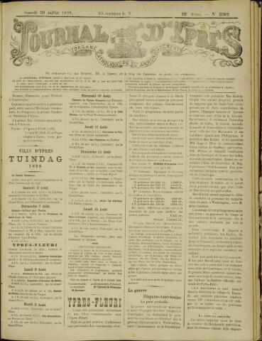 Journal d'Ypres (1874 - 1913) 1898-07-30