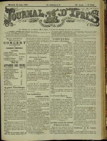 Journal d'Ypres (1874 - 1913) 1897-06-23