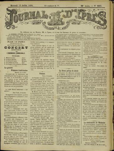 Journal d'Ypres (1874 - 1913) 1898-07-13