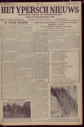 Het Ypersch nieuws (1929-1971) 1968-07-12