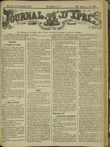 Journal d'Ypres (1874 - 1913) 1897-11-10