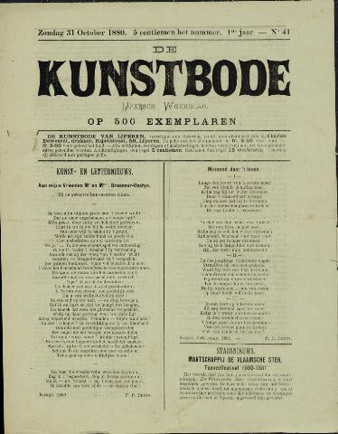 De Kunstbode (1880 - 1883) 1880-10-31