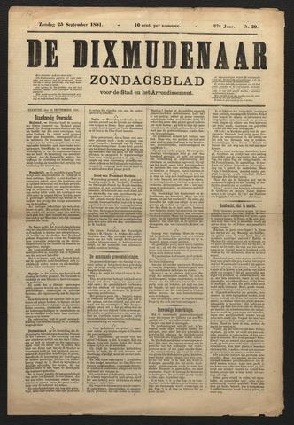 De Dixmudenaar 1881