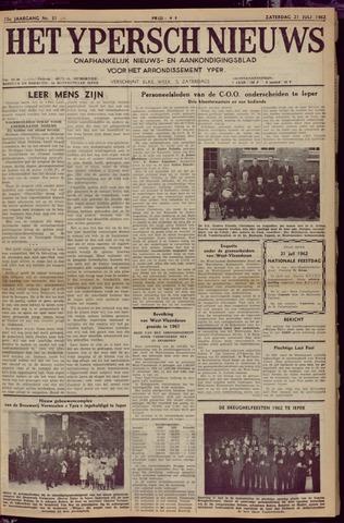 Het Ypersch nieuws (1929-1971) 1962-07-21