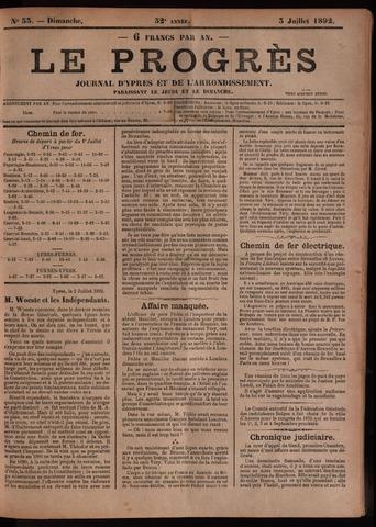Le Progrès (1841-1914) 1892-07-03