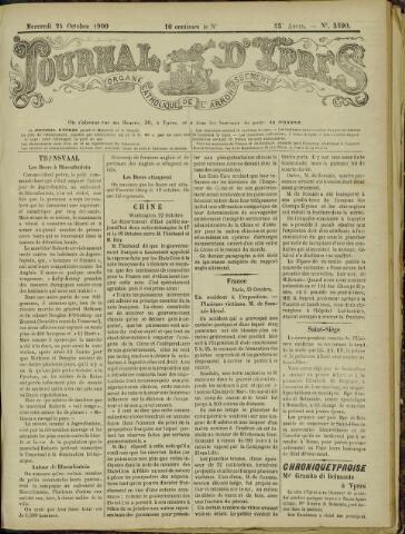 Journal d'Ypres (1874 - 1913) 1900-10-24