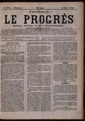 Le Progrès (1841-1914) 1880-07-04