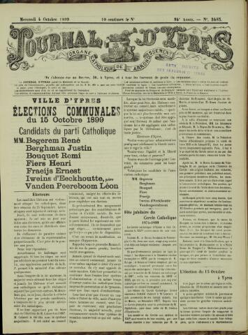 Journal d'Ypres (1874 - 1913) 1899-10-04