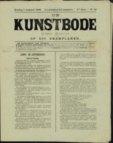 De Kunstbode (1880 - 1883) 1880-08-01