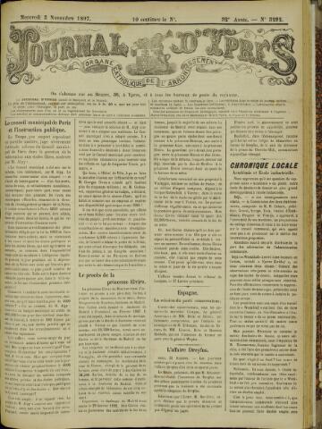Journal d'Ypres (1874 - 1913) 1897-11-03