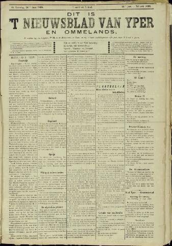 Nieuwsblad van Yperen en van het Arrondissement (1872 - 1912) 1899-06-24