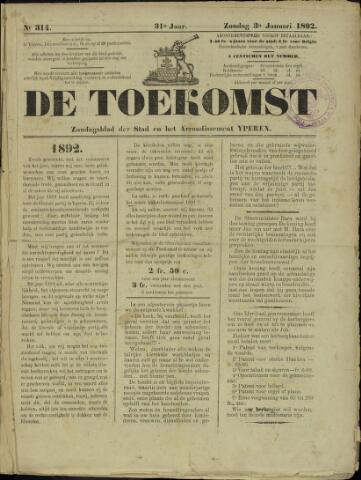 De Toekomst (1862 - 1894) 1892-01-03