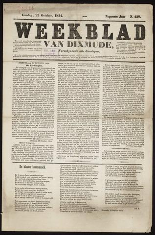 Weekblad van Dixmude 1854-10-22