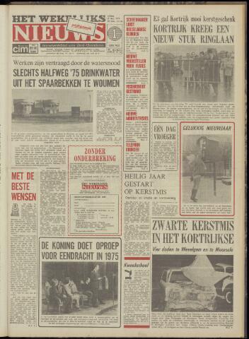 Het Wekelijks Nieuws (1946-1990) 1974-12-27