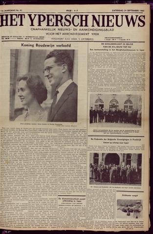 Het Ypersch nieuws (1929-1971) 1960-09-24
