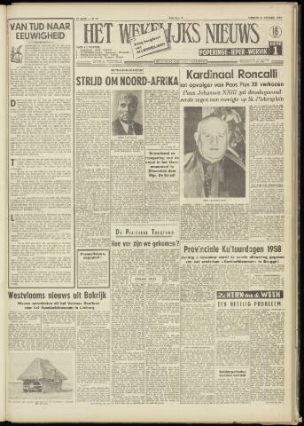 Het Wekelijks Nieuws (1946-1990) 1958-10-31