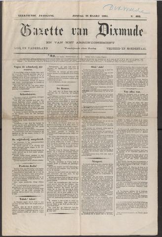 Gazette van Dixmude 1884