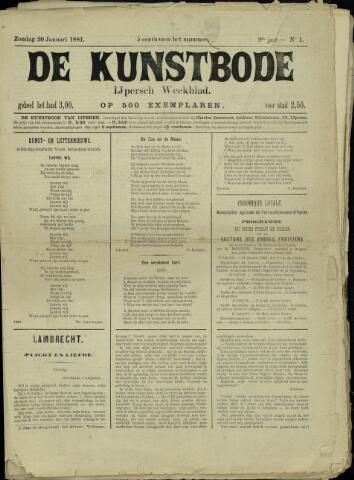 De Kunstbode (1880 - 1883) 1881-01-30