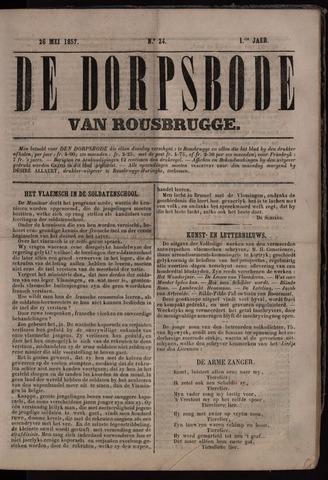 De Dorpsbode van Rousbrugge (1856-1857 en 1860-1862) 1857-05-26
