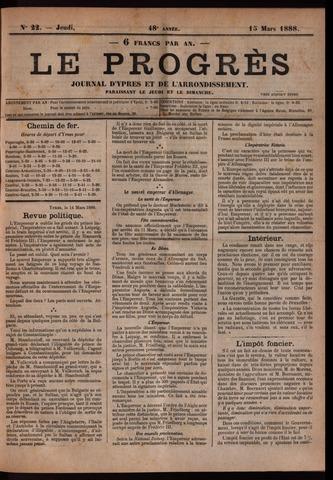 Le Progrès (1841-1914) 1888-03-15