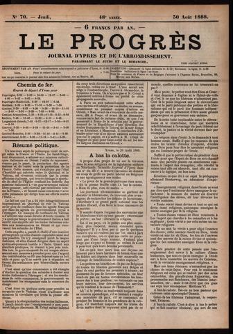 Le Progrès (1841-1914) 1888-08-30