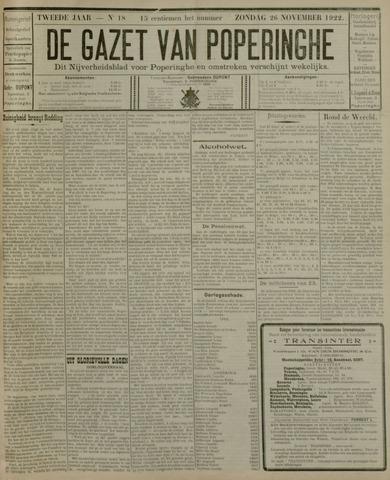 De Gazet van Poperinghe  (1921-1940) 1922-11-26