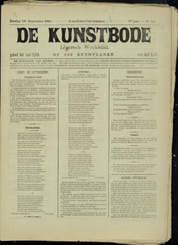 De Kunstbode (1880 - 1883) 1881-09-18