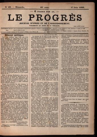 Le Progrès (1841-1914) 1888-06-17