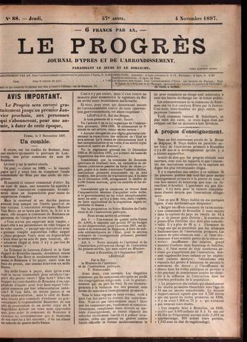 Le Progrès (1841-1914) 1897-11-04