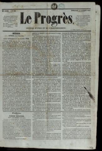 Le Progrès (1841-1914) 1847-01-03