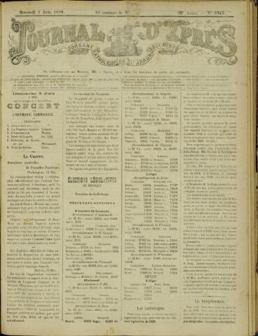 Journal d'Ypres (1874 - 1913) 1898-06-01