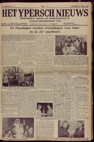 Het Ypersch nieuws (1929-1971) 1962-04-28