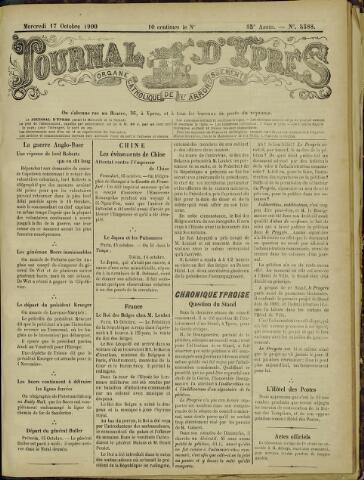 Journal d'Ypres (1874 - 1913) 1900-10-17