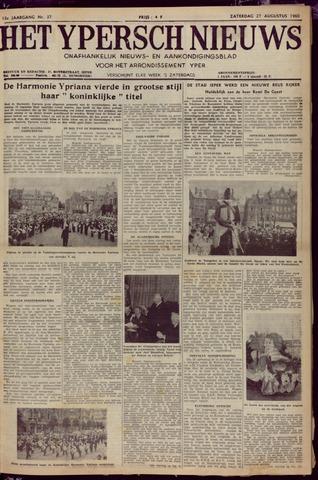 Het Ypersch nieuws (1929-1971) 1960-08-27