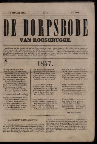 De Dorpsbode van Rousbrugge (1856-1857 en 1860-1862) 1857-01-06