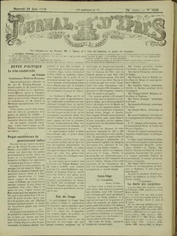 Journal d'Ypres (1874 - 1913) 1899-06-21