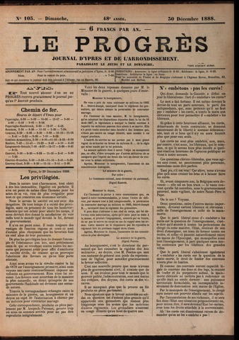 Le Progrès (1841-1914) 1888-12-30