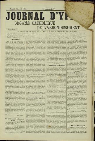 Journal d'Ypres (1874 - 1913) 1906-04-14