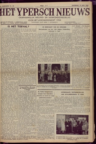 Het Ypersch nieuws (1929-1971) 1960-06-18